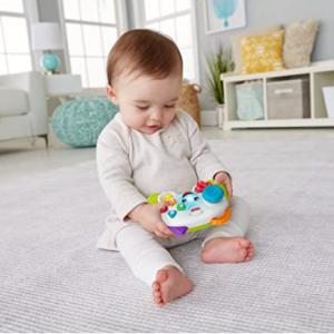 Fisher-Price 嬰幼兒遊戲手柄款早教學習機 @ Amazon