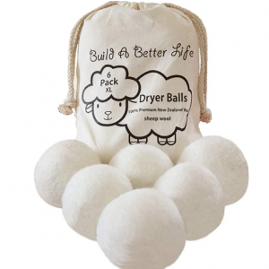 Wool Dryer Balls-Pack of 6 XL only $6.74 @ Amazon