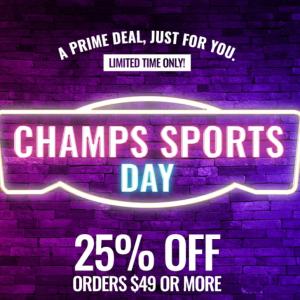 Champs Sports 精選adidas、Nike、Champion、 Jordan等時尚運動品牌大促