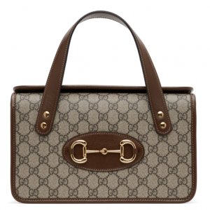 GUCCI Beige 'Gucci 1955' GG Supreme Top Handle Bag @ SSENSE