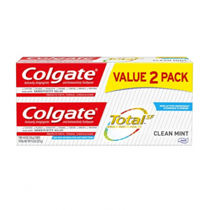Colgate Total Toothpaste, Clean Mint - 4.8 ounce (2 Pack) @ Amazon