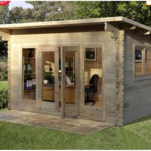 "£350 off Forest Garden Melbury 44mm Log Cabin 13ft 1"" x 9ft 8"" (4.0 x 3.0 m) @Costco UK"