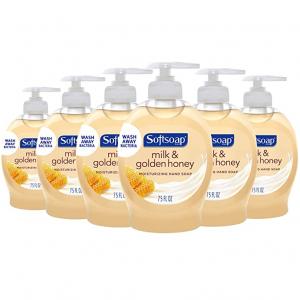 Softsoap Moisturizing Liquid Hand Soap, Milk and Honey - 7.5 fluid ounce (6 Pack) @ Amazon