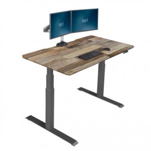"Vari Electric Standing Desk, 60""W, Reclaimed Wood $455 shipped @ OfficeDepot"