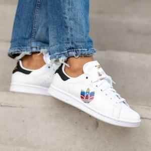 eBay US官网 adidas Originals Stan Smith 彩色徽标女款板鞋热卖