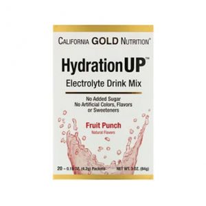 California Gold Nutrition, HydrationUP,電解質混合飲品粉,水果賓治,20 小包 @ iHerb