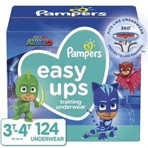 Pampers Easy Ups Training Pants Boys and Girls, Size 5 (3T-4T), 124 Count @ Amazon