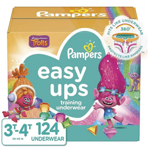 Pampers Easy Ups Training Pants Girls and Boys, Size 5 (3T-4T), 124 Count@ Amazon