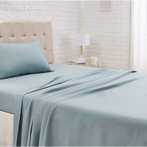 "AmazonBasics Lightweight Super Soft Easy Care Microfiber Sheet Set with 16"" Deep Pockets - Twin"
