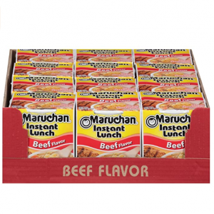 Maruchan 速食杯面 牛肉口味 2.25oz 12杯装 @ Amazon