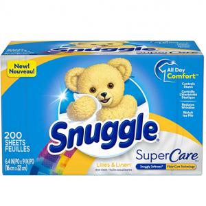 Snuggle SuperCare 衣物柔顺烘干纸 200张 @ Amazon