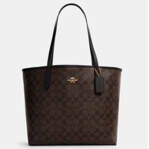 60% Off Coach City Tote In Signature Canvas @ Coach Outlet