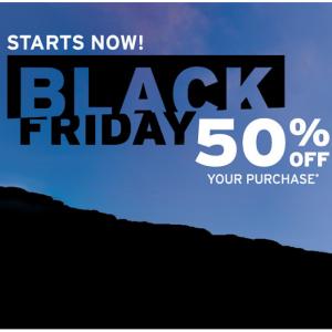 Cyber Monday Sale - 50% Off Purchase @ Eddie Bauer