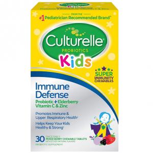 Culturelle Kids Probiotic Mixed Berry Chewables, 30 CT @ Amazon