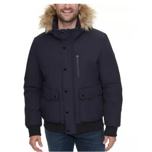 40% Off Calvin Klein Men's Snorkel Jacket with Removable Faux-Fur Hood @ Macys