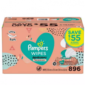 Pampers Expressions Baby Wipes, Fresh Bloom Scent (896 ct.) @ Sam's Club