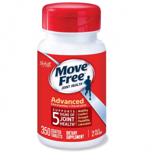Move Free Glucosamine & Chondroitin Advanced Joint Health Supplement Tablets, 350 Count @ Amazon