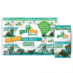 gimMe Organic Roasted Seaweed Sheets - Sea Salt - 20 Count @ Amazon