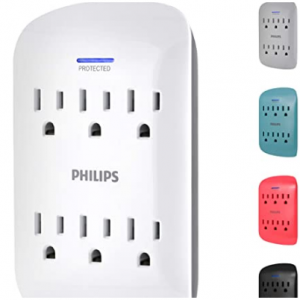 19% off Philips 6-Outlet Surge Protector Tap, 900 Joules @Amazon