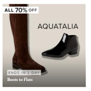 Rue La La官網 精選Aquatalia鞋靴限時大促