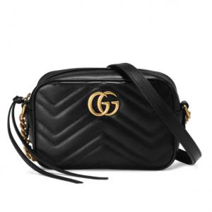黑色款補貨:Nordstrom官網 Gucci Matelassé 雙G相機包熱賣