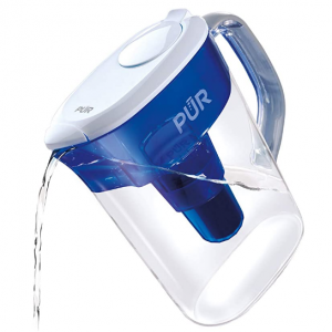 PUR Water Filter Pitcher Filtration System, 7 Cup, Clear/Blue @ Amazon
