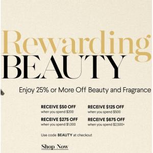 Beauty Sale (La Mer, La Prairie, CPB, SK-II, CHANEL, Tom Ford, Estee Lauder) @ Bergdorf Goodman