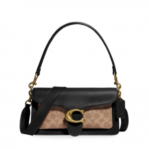 Coach 1941 Tabby Leather & Coated Canvas Signature Shoulder Bag @ Neiman Marcus