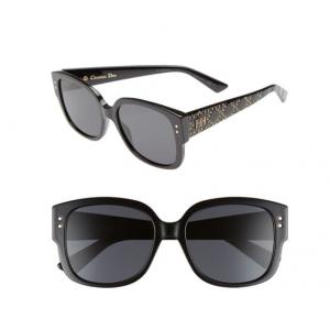 Nordstrom Rack官网 AB同款 Dior Lady Studs 54mm 女款铆钉方框太阳镜2.1折特卖 三色可选