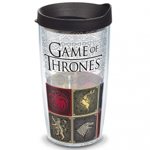 Tervis HBO Game of Thrones - House Sigils Insulated Travel Tumbler with Wrap & Lid, 16 oz - Tritan