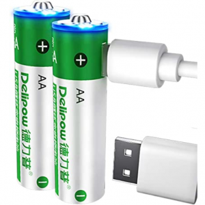 50% off Delipow AA Rechargeable Batteries @Amazon