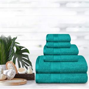 限今天:TRIDENT 超柔軟純棉浴巾套裝促銷 @ Amazon