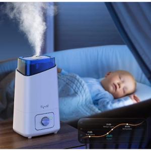 限今天:Kyvol 超聲波冷霧加濕器4.5L 黑灰白2色 @ Amazon