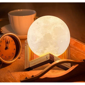 ACED 3D Printed LED Moon Night Light Lamp @ Amazon