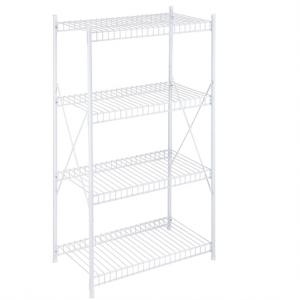Honey-Can-Do SHF-05270 4-Tier Storage Shelf, White, 1400 lbs @ Amazon