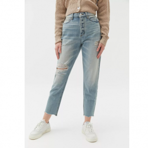 45% Off BDG High-Waisted Light Wash Slim Straight Jean @ Urban Outfitters