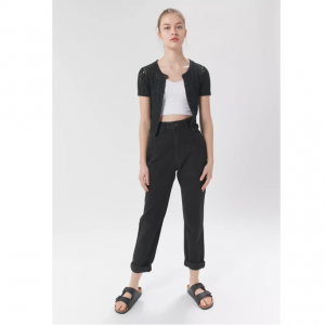 BDG High-Waisted Mom Jean – Black Denim @ Urban Outfitters