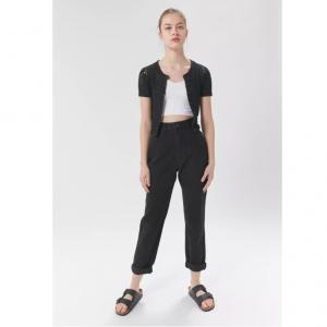 Urban Outfitters官網 BDG 高腰水洗卷邊牛仔褲熱賣