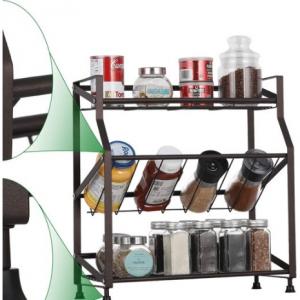 Spice Rack Organizer 3 Tiers Freestanding Kitchen Metal Spice Holder Storage for $16.97 @Walmart