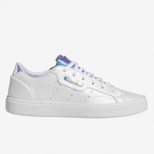 Foot Locker官网 adidas Originals Sleek 镭射女款小白鞋6.7折热卖