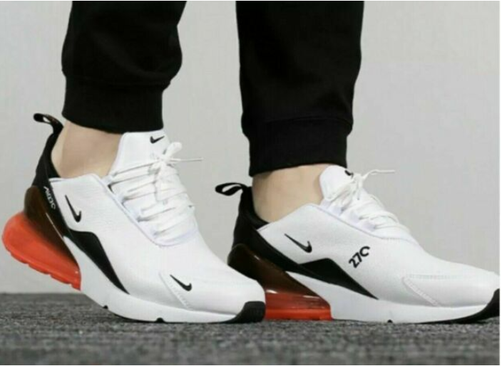 Men's Shoe Nike Air Max 270 Premium Black leather shoes for sale